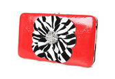 Red clutch bag — Stock Photo