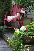 Cottage garden chair — Stock Photo