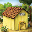 Yellow Dog House — Stock Photo