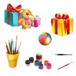 Stock Photo: Children gifts and toys