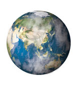 Planet Earth isolated in white background — Stock Photo