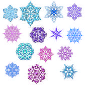 Set of snowflakes — Stock Photo