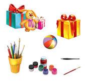 çocuklara hediyeler ve oyuncaklar — Stok fotoğraf