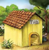 Yellow Dog House. — Stock Photo