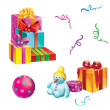 Stock Photo: Gift boxes with Ribbons