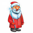 Santa Claus. Isolated illustration on white background. — Stock Photo