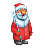 Santa Claus. Isolated illustration on white background. — Stock Photo