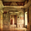 Interior of an old Palace. Ruines of a castle. grunge and retro style. — Photo #22287637