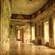Interior of an old Palace. Ruines of a castle. — Stock Photo