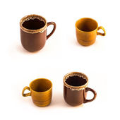 Brown ceramic cups — Stock Photo