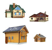 Classical building, House, Cottage, Village home — Stock Photo