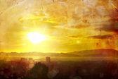 Summer background. Sunset sky — Stock Photo