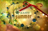 Mutlu yaz! parlak ve renkli yaz arka plan — Stok fotoğraf
