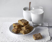 Fresh healthy milk and cookies — Stock Photo