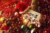 Noel kartı ile süsleme — Stok fotoğraf