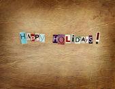 Happy holidays vintage card — Zdjęcie stockowe