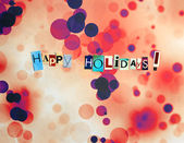 Happy Holidays Greeting — Stock Photo