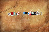 Vintage grunge christmas card — Stockfoto