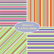 Set of striped seamless vintage patterns — Stock Vector