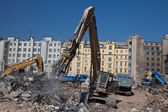 Contruction dismantling machine — Stock Photo