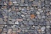 Stenen gabion muur — Stockfoto