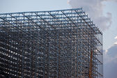 Warehouse steel structure — Stock Photo
