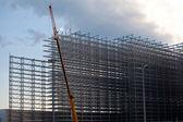 стальные стойки склад — Стоковое фото