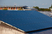 Photovoltaic panels on the roof — Stock Photo