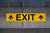 Sign EXIT — Stock Photo