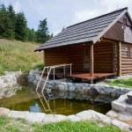 Sauna cabin — Stock Photo