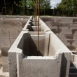 Concrete foundation - Stock Photo