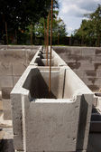 Concrete foundation — Stockfoto