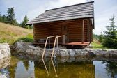 Sauna hut — Stock Photo