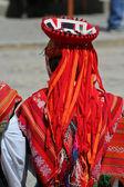Peruvian dancer — Stock Photo