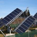 Solar electricity — Stock Photo