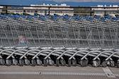 Shopping trolleys — Stock Photo