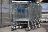 Shopping carts — Photo