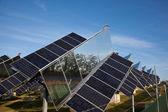 Green sun electricity — Stock Photo