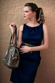 Woman With Handbag — Stock Photo