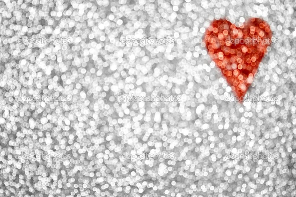 Hearts Glitter Backgrounds Heart Background — Photo
