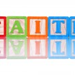 Alphabet Blocks Faith — Stock Photo