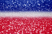 Red white and blue glitter — Stock Photo