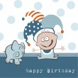 Stock Vector: Happy Birthday Elephant