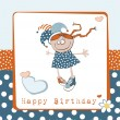 Stock Vector: Happy Birthday girl