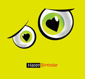 Funny card smile eyes — Stock Vector