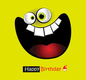 Grand sourire de carte joyeux anniversaire — Vecteur