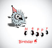 Happy Birthday Cards birds — Stock Vector