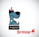 Happy Birthday dog — Stock Vector