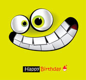 Happy Birthday smile card — Stock Vector