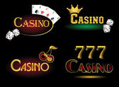 Casino kutsal kişilerin resmi — Stok Vektör